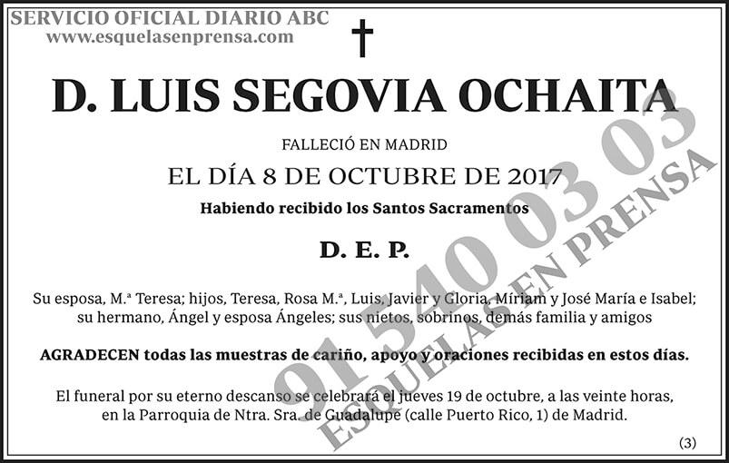 Luis Segovia Ochaita